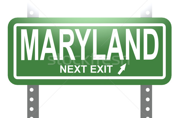 Maryland green sign board isolated Stock photo © tang90246