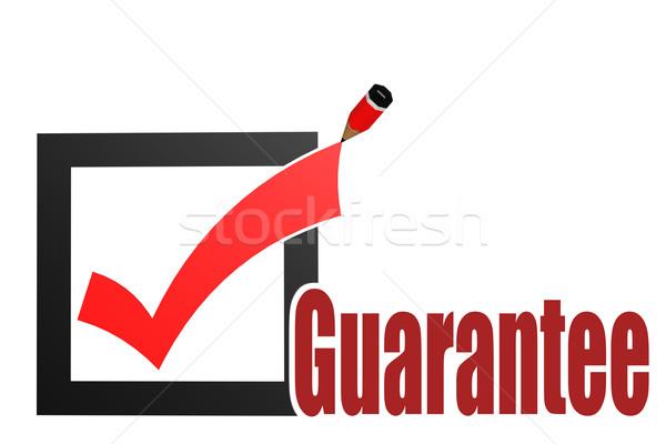 Check mark with guarantee word Stock photo © tang90246