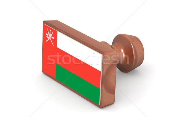 штампа Оман флаг изображение оказанный Сток-фото © tang90246