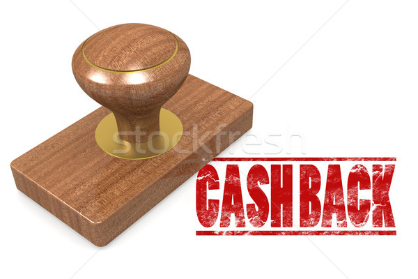 Cash back wooded seal stamp Stock photo © tang90246