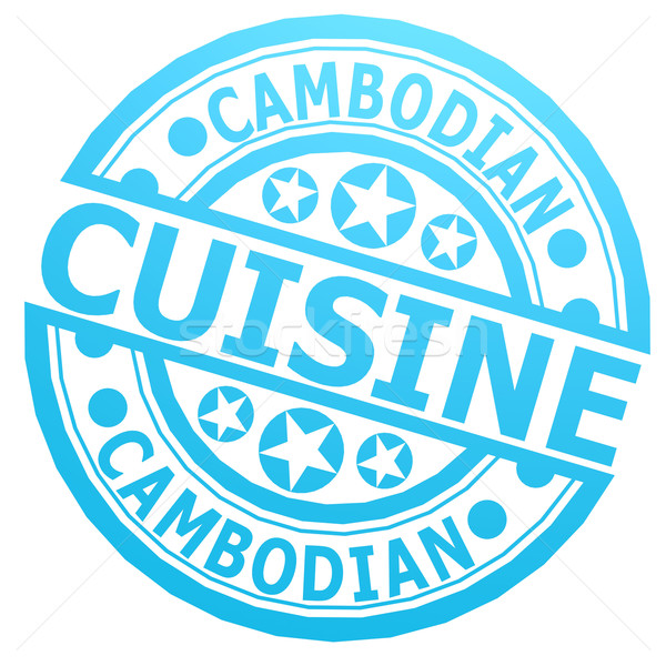 Cambodian cuisine stamp Stock photo © tang90246