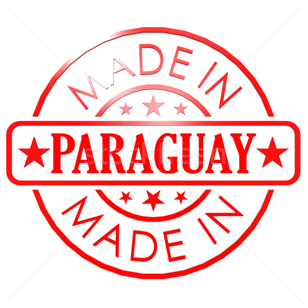 Made in Paraguay red seal Stock photo © tang90246