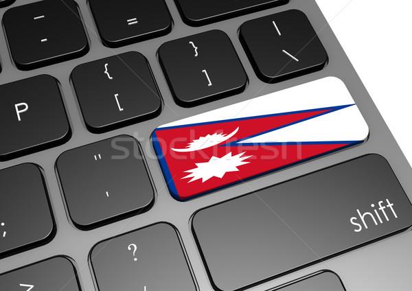 Nepal klavye görüntü render kullanılmış Stok fotoğraf © tang90246