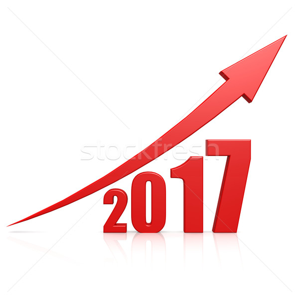 2017 growth red arrow Stock photo © tang90246