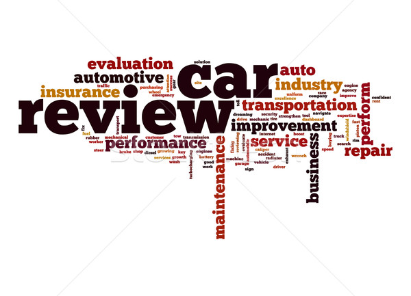Car review word cloud Stock photo © tang90246