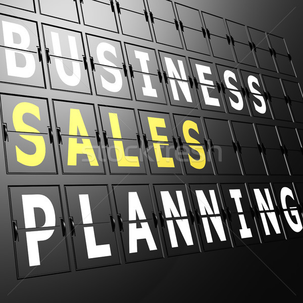 Airport display business sales planning Stock photo © tang90246