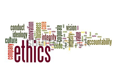 Ethics word cloud Stock photo © tang90246