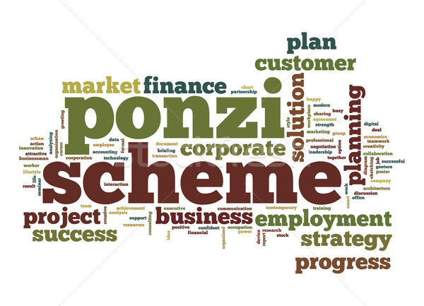 Ponzi scheme word cloud Stock photo © tang90246