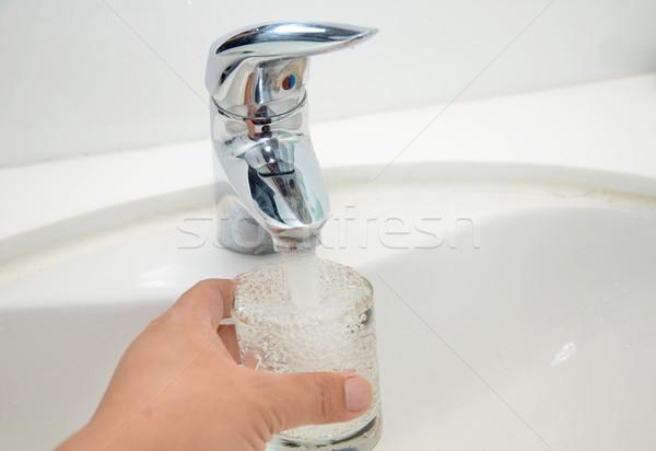 充填 ガラス 水 ステンレス鋼 健康 ストックフォト © tang90246