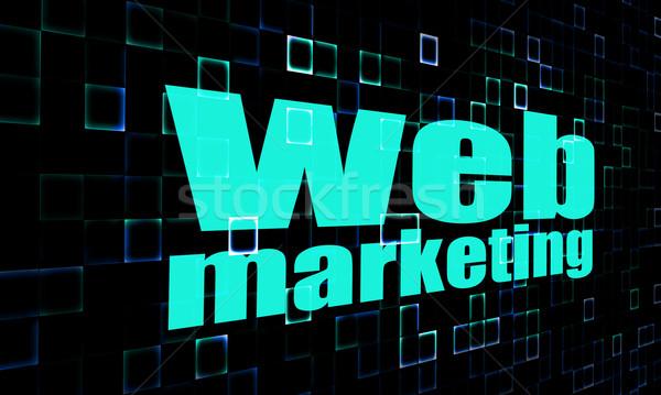 ウェブ マーケティング 言葉 デジタル 画像 レンダリング ストックフォト © tang90246