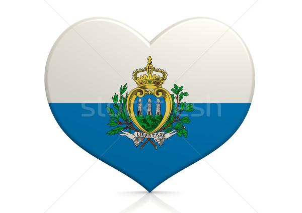 Сан-Марино сердце фон путешествия флаг стране Сток-фото © tang90246