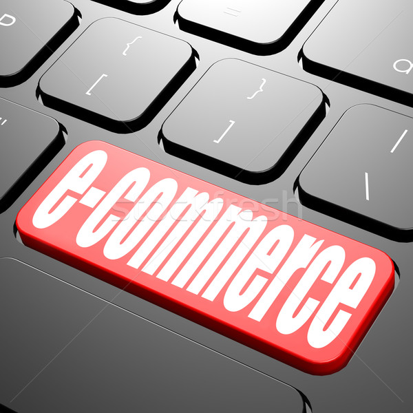 Keyboard with e-commerce text Stock photo © tang90246