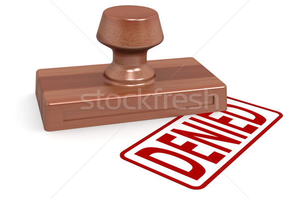 Wooden stamp denied with red text Stock photo © tang90246