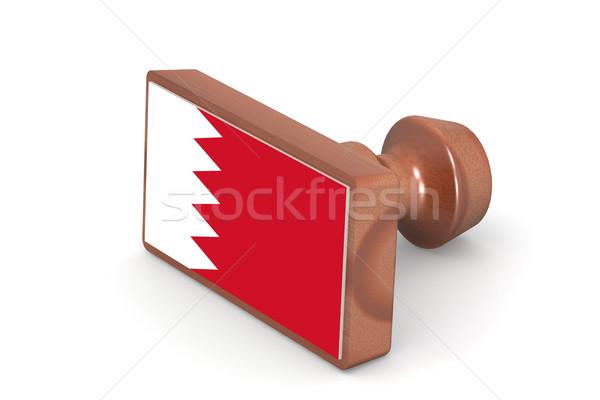 Carimbo Bahrein bandeira imagem prestados Foto stock © tang90246