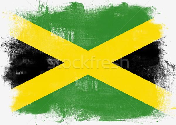 Stok fotoğraf: Bayrak · Jamaika · boyalı · fırçalamak · katı · soyut