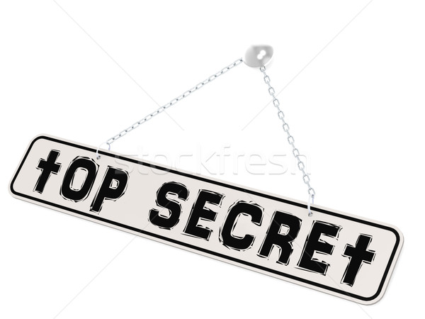 Top secret banner on white background Stock photo © tang90246