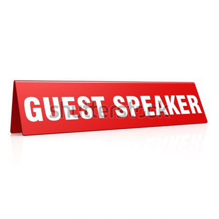 Guest speaker tag Stock photo © tang90246