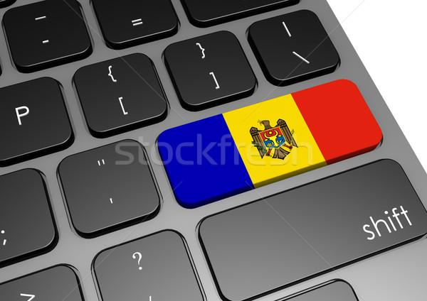 Moldova billentyűzet kép renderelt mű használt Stock fotó © tang90246