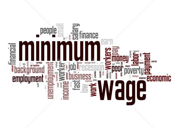 Сток-фото: заработная · плата · слово · облако · бизнеса · работу · фон · работник