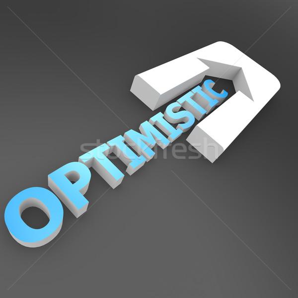 Optimistisch arrow Arbeit Erfolg Unternehmen finanziellen Stock foto © tang90246