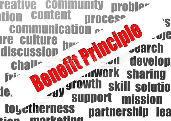 Benefit principle word cloud Stock photo © tang90246