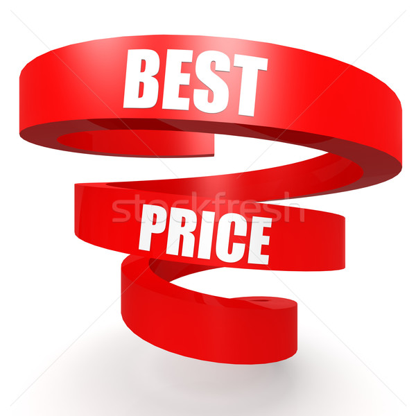 Best price red helix banner Stock photo © tang90246