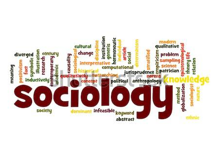 Sociology word cloud Stock photo © tang90246