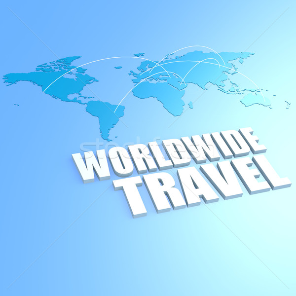 In tutto il mondo viaggio mappa del mondo business mondo terra Foto d'archivio © tang90246