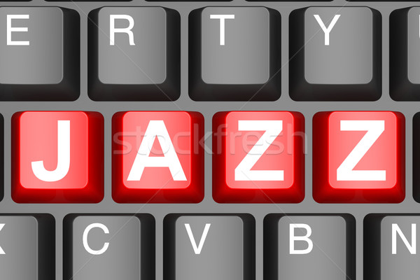 Jazz bouton modernes image rendu Photo stock © tang90246