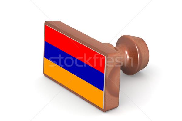 Carimbo Armênia bandeira imagem prestados Foto stock © tang90246