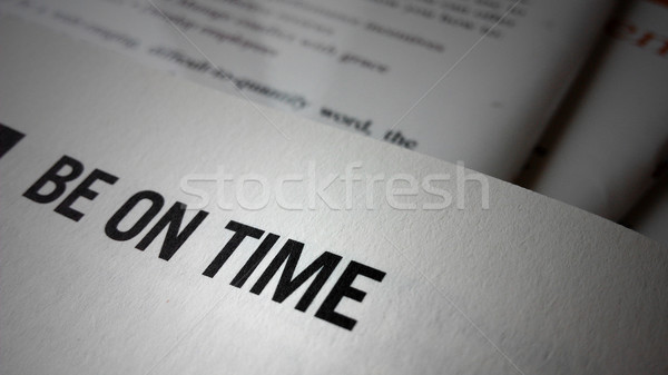 Be on time word on a book Stock photo © tang90246