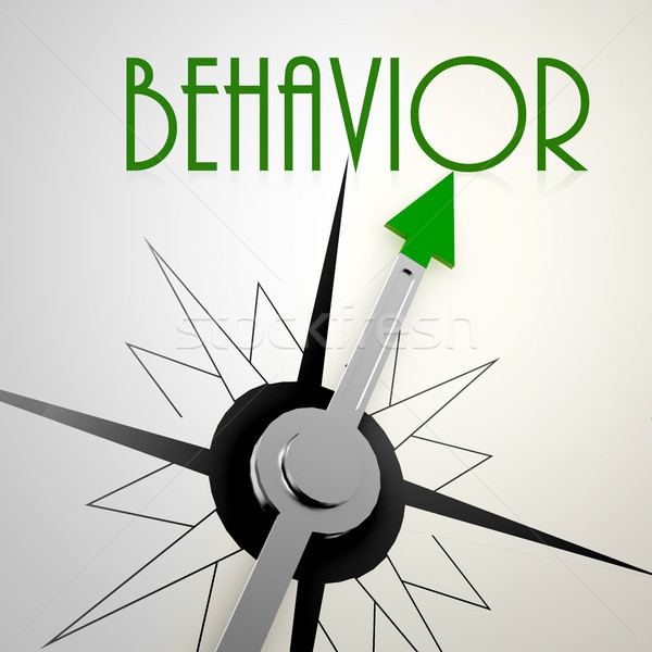 Behavior on green compass Stock photo © tang90246