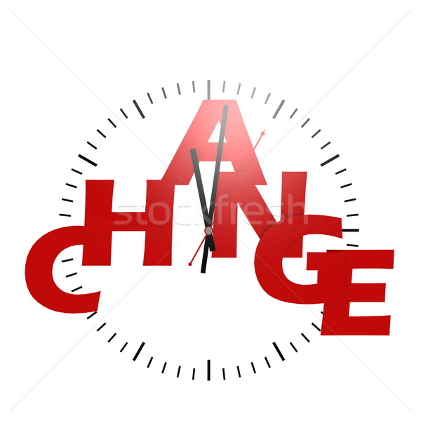 Change word with clock Stock photo © tang90246