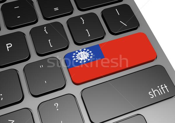 Myanmar billentyűzet kép renderelt mű használt Stock fotó © tang90246