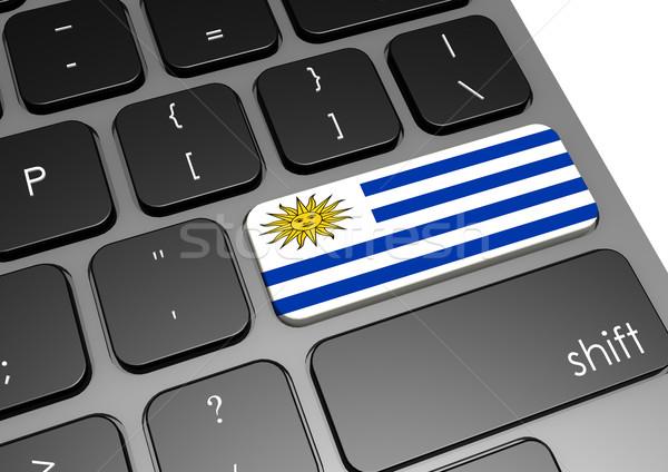 Uruguay billentyűzet kép renderelt mű használt Stock fotó © tang90246