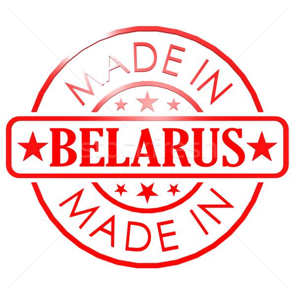 Беларусь красный печать бизнеса бумаги дизайна Сток-фото © tang90246