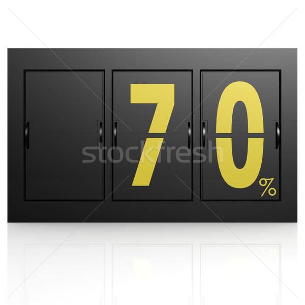 Airport display board 70 percent Stock photo © tang90246