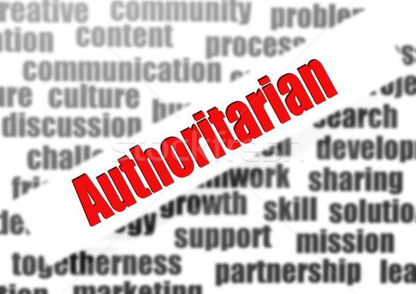 Authoritarian word cloud Stock photo © tang90246