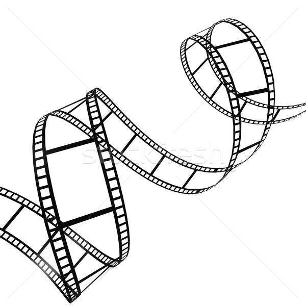 Filmszalag absztrakt háttér keret művészet űr Stock fotó © tang90246