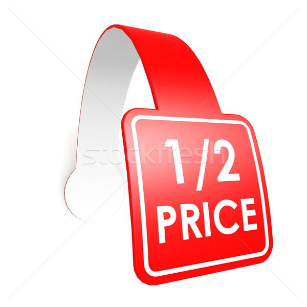 Half price hang label Stock photo © tang90246