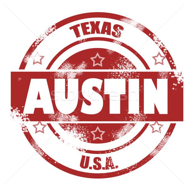 Austin sello imagen prestados utilizado Foto stock © tang90246