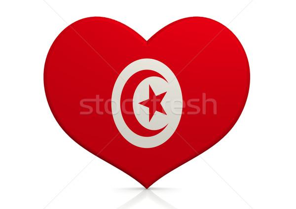 Тунис сердце фон путешествия стране концепция Сток-фото © tang90246