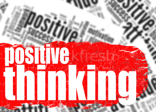 Word cloud positive thinking Stock photo © tang90246
