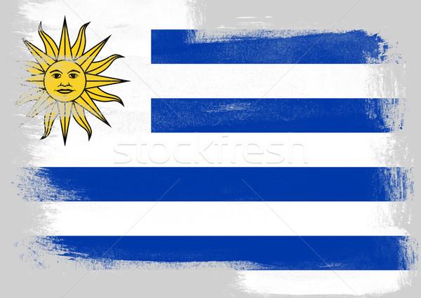 Banderą Urugwaj malowany szczotki solidny streszczenie Zdjęcia stock © tang90246
