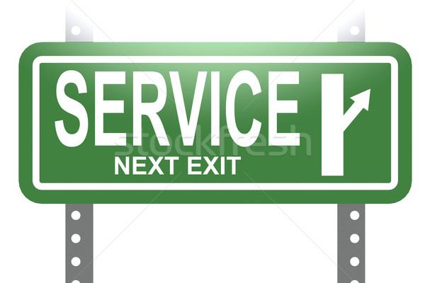 Servizio verde segno bordo isolato immagine Foto d'archivio © tang90246