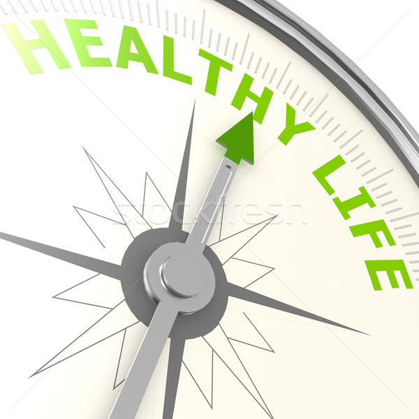 Healthy life compass Stock photo © tang90246