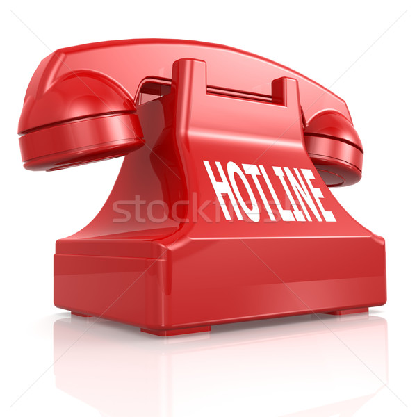 Red hotline phone Stock photo © tang90246