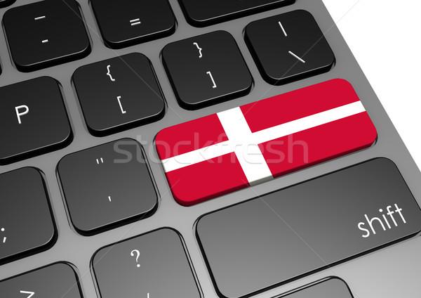 Danemark clavier image rendu utilisé Photo stock © tang90246