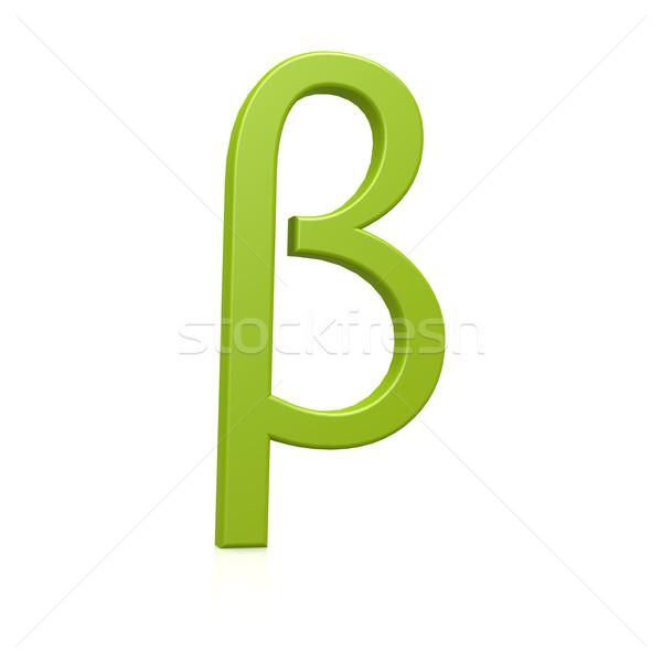 зеленый бета дизайна письме информации греческий Сток-фото © tang90246