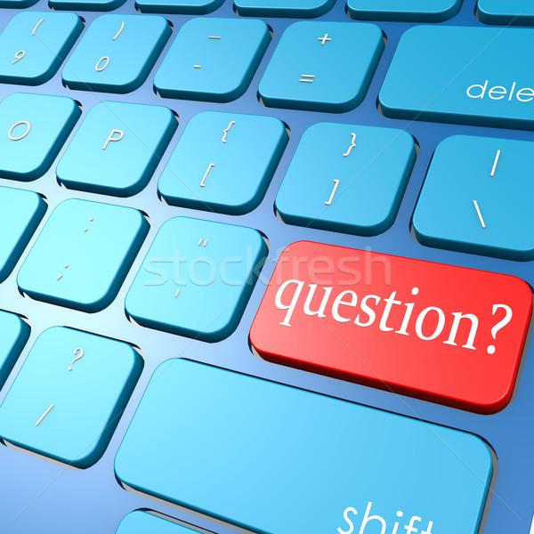 Kérdés billentyűzet üzlet számítógép internet felirat Stock fotó © tang90246